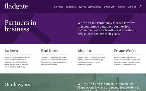 Screenshot of Home Page fladgate.com - Fladgate LLP   Law firm - captured Feb. 10, 2016