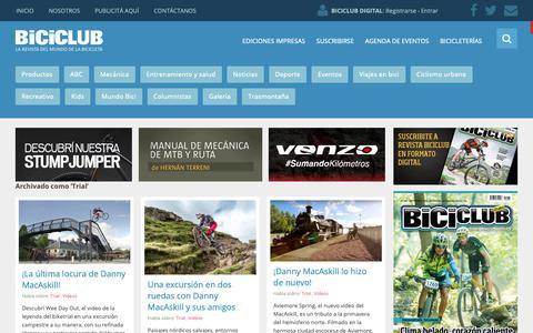 Screenshot of Trial Page biciclub.com - Trial « - captured Oct. 1, 2018