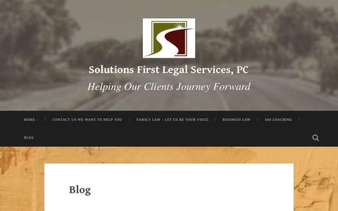 Screenshot of Blog solfirst.com - Blog – Solutions First Legal Services, PC - captured Oct. 19, 2018