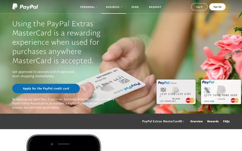 PayPal Extras MasterCard – PayPal US