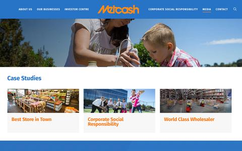 Screenshot of Case Studies Page metcash.com - Case Studies - Metcash | Australia's leading wholesale distribution and marketing company - captured March 16, 2018