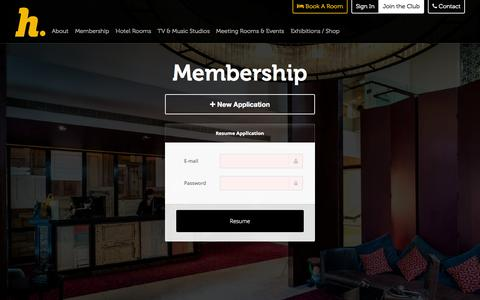 Screenshot of Signup Page thehospitalclub.com - The Hospital Club - Join - captured Nov. 23, 2015