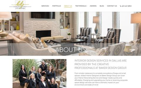 Screenshot of About Page baker-designgroup.com - Dallas Interior Design Company Profile - About Us - captured March 20, 2018