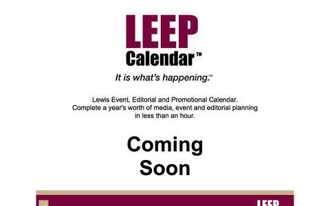 Screenshot of Home Page leepbook.com - Leep Calendar - captured June 27, 2017