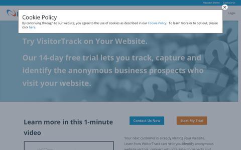 Screenshot of Trial Page netfactor.com - Website Visitor Tracker Software, Track Site Visitors - captured Nov. 4, 2018
