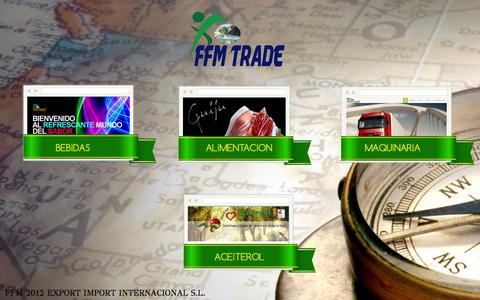 Screenshot of Home Page ffmtrade.com - FFM EXPORT IMPORT - captured Oct. 5, 2014