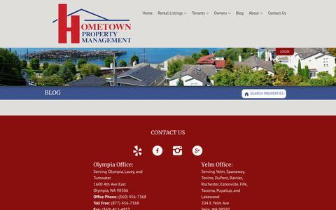 Screenshot of Blog hometownpm.com - HometownPM Property Management Blog - Hometown Property Management - captured July 1, 2018