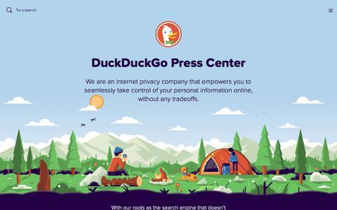 Screenshot of Press Page duckduckgo.com - DuckDuckGo Press Page - captured Jan. 20, 2018