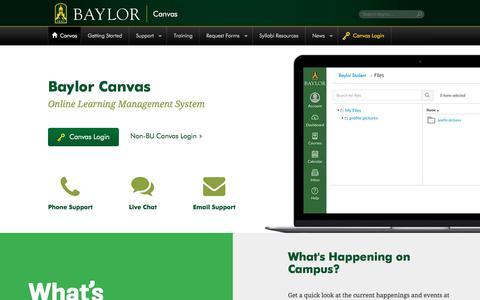 Canvas | Baylor University