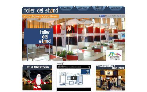 Screenshot of Home Page tallerdelstand.com captured Oct. 7, 2014