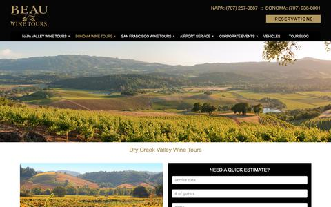 Dry Creek Valley Wine Tours and Tastings - Beau Wine Tours