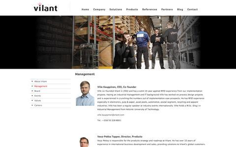 Screenshot of Team Page vilant.com - Vilant Management Team - captured Sept. 17, 2014