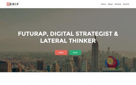 Screenshot of Home Page futurap.com - futurap - Digital Strategist & Lateral Thinker - captured Sept. 2, 2015