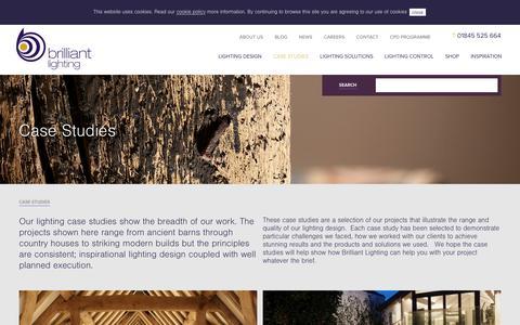 Screenshot of Case Studies Page brilliantlighting.co.uk - Case Studies | Brilliant Lighting - captured Dec. 4, 2015