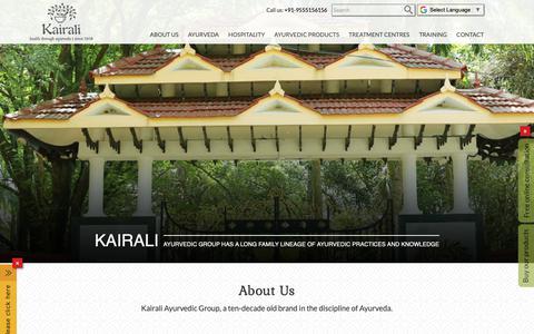 Screenshot of About Page kairali.com - Kairali Ayurvedic Group | Ayurveda brand | Partnerships & Investment - captured April 4, 2019
