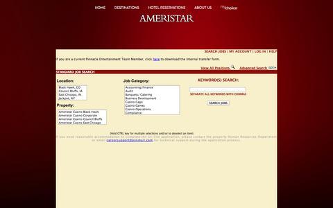 Screenshot of Jobs Page ameristar.com - Ameristar Casinos Inc. | Official Website - captured Sept. 23, 2014