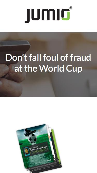Don't fall foul of fraud at the World Cup