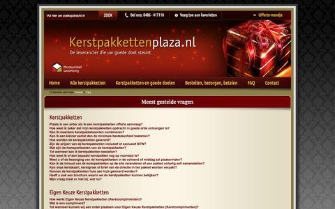 Screenshot of FAQ Page kerstpakkettenplaza.nl - Meest gestelde vragen over kerstpakketten van kerstpakkettenplaza - captured Nov. 3, 2014