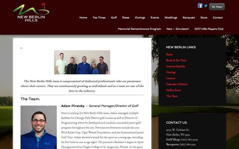 Screenshot of Team Page newberlinhillsgolf.com - The Team - captured Nov. 29, 2016