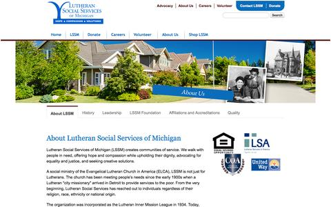 Screenshot of About Page lssm.org - About LSSM - captured Oct. 3, 2014