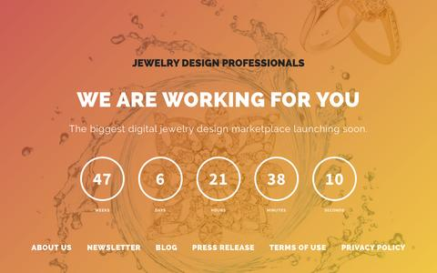 Screenshot of Home Page jewelrydesignpro.com - Jewelry Design Pro - Launching Very soon - captured Sept. 30, 2014