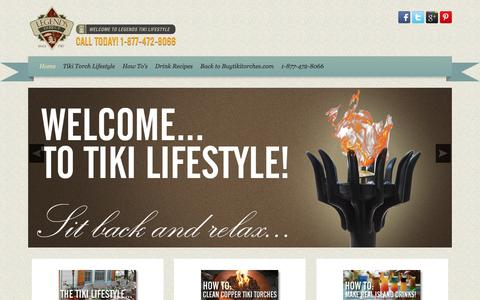 Screenshot of Blog buytikitorches.com - Blog - Buytikitorches.com - Welcome To Legends Tiki Lifestyle - captured June 15, 2016