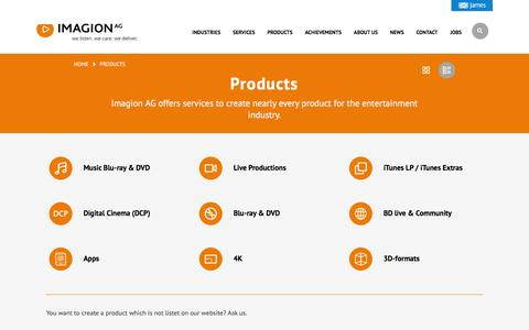 Screenshot of Products Page imagion.de - Products - Imagion AG - captured Feb. 10, 2016