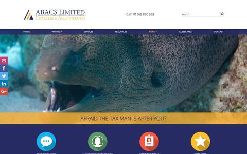 Screenshot of Press Page abacs.co.uk - News | Abacs Ltd | Accountants - captured Oct. 6, 2017