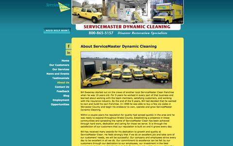 Screenshot of About Page smdynamic.com - About ServiceMaster Dynamic Cleaning - ServiceMaster Dynamic Cleaning - captured Feb. 16, 2016
