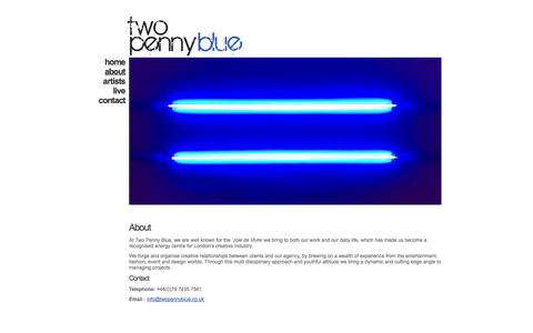Screenshot of About Page twopennyblue.co.uk - About «  Two Penny Blue - captured Oct. 7, 2014