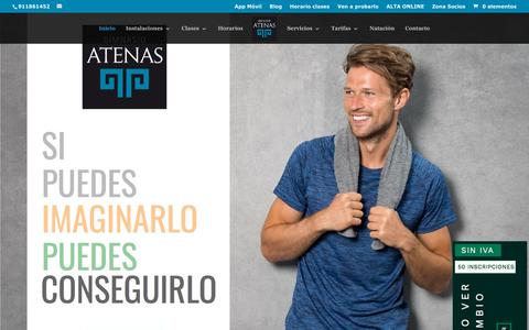 Screenshot of Home Page centroatenas.com - Gimnasio Atenas Club de Fitness - Gimnasio Atenas Madrid - captured Jan. 22, 2019