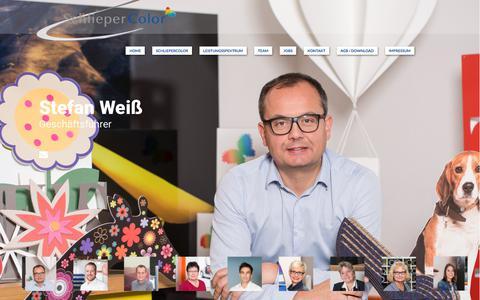 Screenshot of Team Page schliepercolor.net - Damit Sie wissen,… – Schliepercolor GmbH - captured July 6, 2018