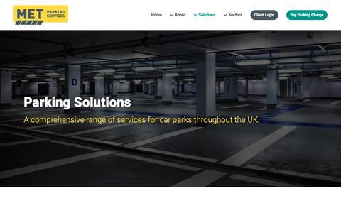 Screenshot of Services Page metparking.com - Parking Solutions | Extensive Range of Parking Services | MET Parking - captured Nov. 11, 2018