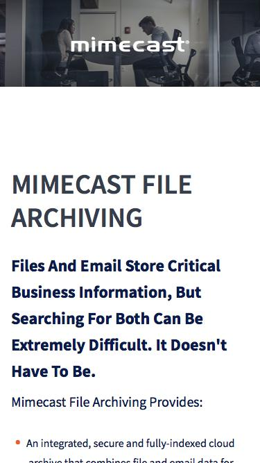 File Archiving in the Cloud | Mimecast