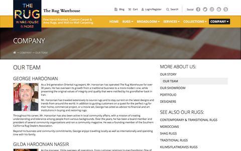 Screenshot of Team Page therugwarehouse.com - Team |  The Rug Warehouse - captured Nov. 17, 2017