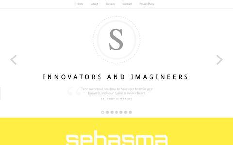 Screenshot of Home Page sebasma.com - Website Design | Website Development | E-Commerce website | CMS - Sebasma Infotech - captured Oct. 6, 2014