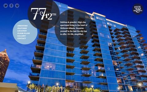 Screenshot of Home Page 7712th.com - 77 12th - Luxury High-Rise Apartments - Midtown Atlanta - captured Sept. 18, 2015