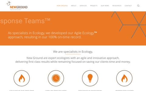 Screenshot of Home Page newground.com.au - New Ground | Expert Ecologists - captured Dec. 13, 2016