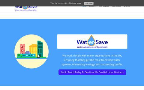 Screenshot of Home Page wat-er-save.co.uk - Wat-er-Save Services | Water Management Specialists - captured Sept. 20, 2018