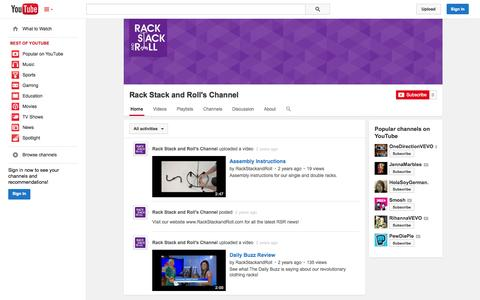 Screenshot of YouTube Page youtube.com - Rack Stack and Roll's Channel  - YouTube - captured Oct. 26, 2014