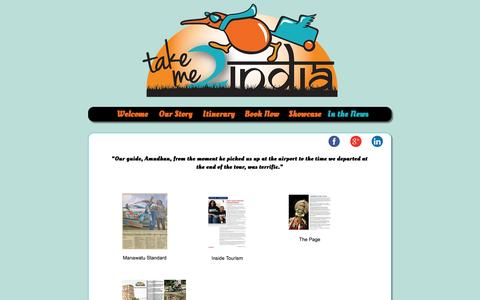 Screenshot of Press Page takeme2india.co.nz - Takeme2India | Authentic Heritage Tours to South India, Tour Operators from New Zealand - captured Oct. 1, 2014