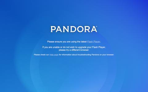 Screenshot of Home Page pandora.com - Pandora Internet Radio - Listen to Free Music You'll Love - captured Dec. 22, 2015