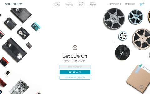 Screenshot of Pricing Page southtree.com - Southtree | Convert Home Movies to DVD - captured Oct. 1, 2018