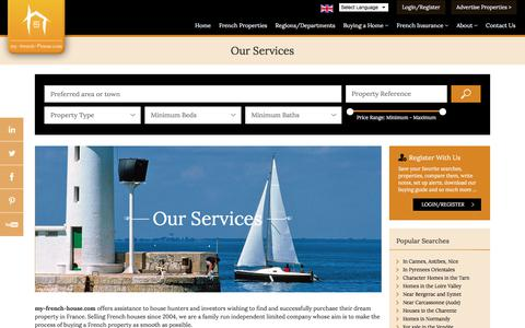 Screenshot of Services Page my-french-house.com - French Property Services, how we work ... - captured Oct. 25, 2017