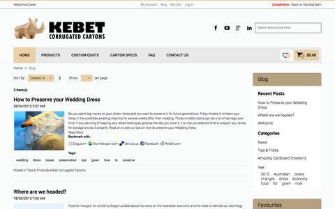 Screenshot of Blog kebet.com.au - Blog - captured Feb. 12, 2016