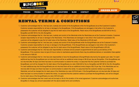 Screenshot of Terms Page bungobox.com - Rental Terms & Conditions | BungoBox - captured Sept. 30, 2014