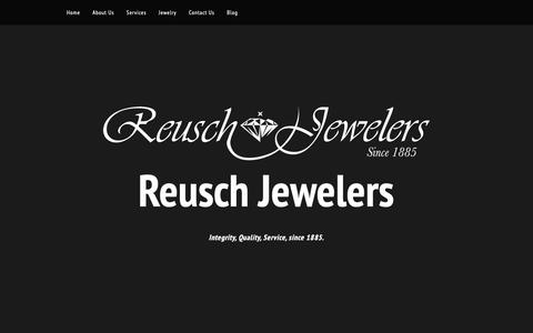 Screenshot of Services Page reuschjewelers.com - Our Services - captured Oct. 20, 2018