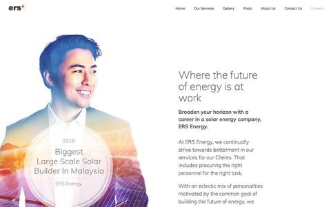 Screenshot of Jobs Page ers.my - Start A Career In A Solar Energy Company | Join Others At ERS Energy - captured Sept. 26, 2018