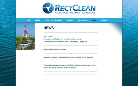 Screenshot of Press Page recycle-frac-water.com - NEWS | Recycle Frac Water - captured Dec. 3, 2016