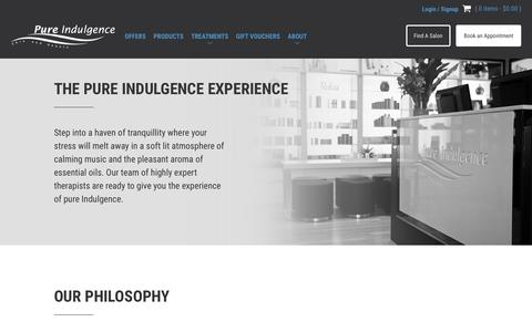 Screenshot of About Page pureindulgence.com.au - About - Pure Indulgence - captured April 12, 2017